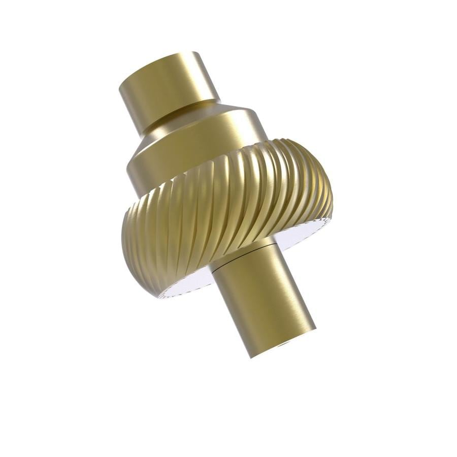 shop allied brass satin brass cabinet knob at lowes