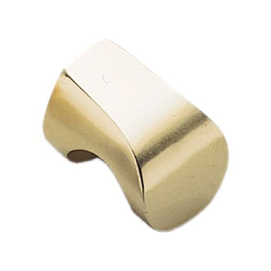 Sugatsune Hook Satin Brass Rectangular Cabinet Knob