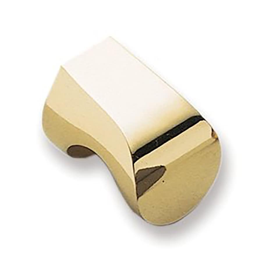 Sugatsune Modern Hook Polished Brass Rectangular Cabinet Knob