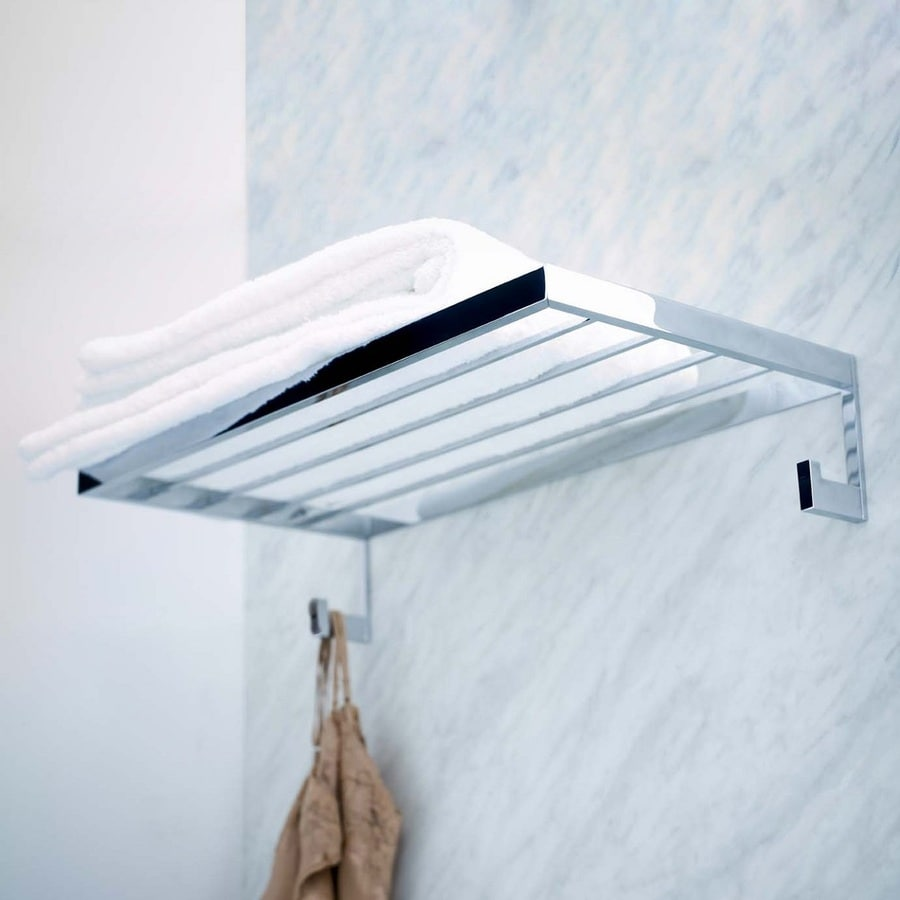 Shop WS Bath Collections Urban Polished Chrome Rack Towel Bar ...