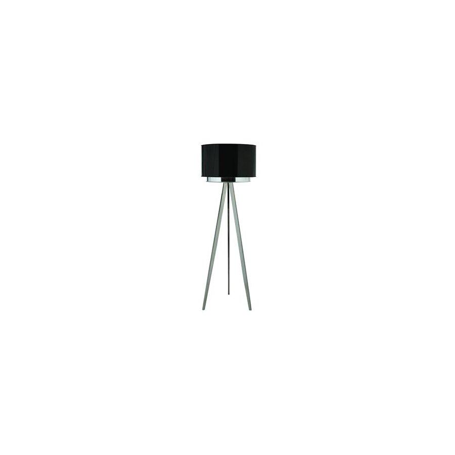 Trend Lighting 69-in Brushed Nickel Shaded Floor Lamp Indoor Floor Lamp with Fabric Shade