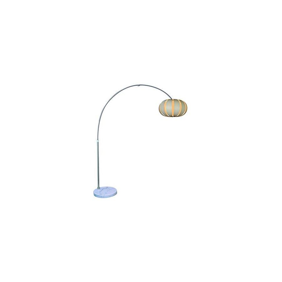Trend Lighting 90-in Brushed Nickel Shaded Floor Lamp Indoor Floor Lamp with Fabric Shade