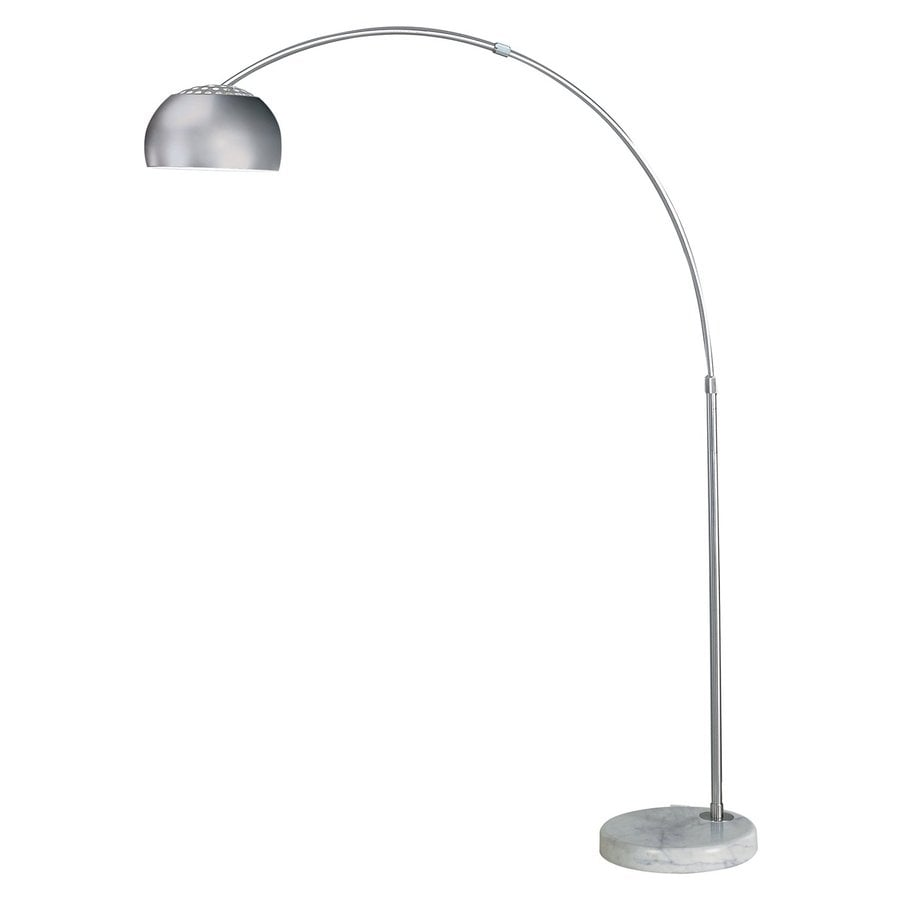 Trend Lighting 84-in White Marble Downbridge Indoor Floor Lamp with Metal Shade