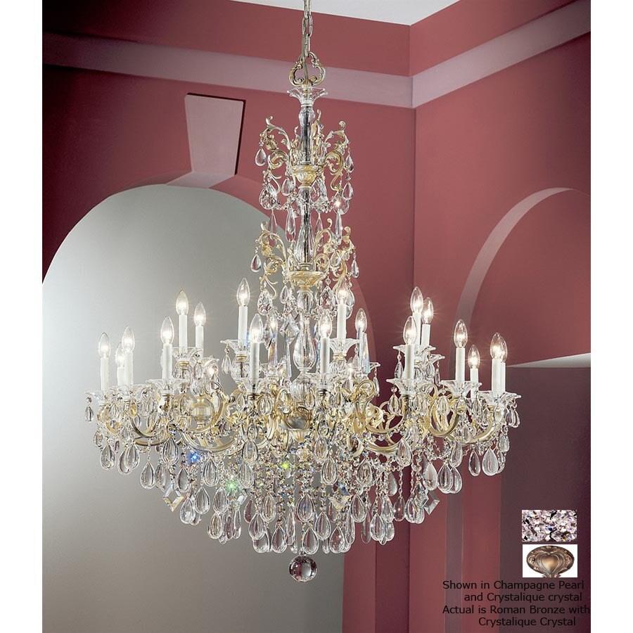 Shop classic lighting 24 light via veneto roman bronze crystal classic lighting 24 light via veneto roman bronze crystal chandelier aloadofball Images
