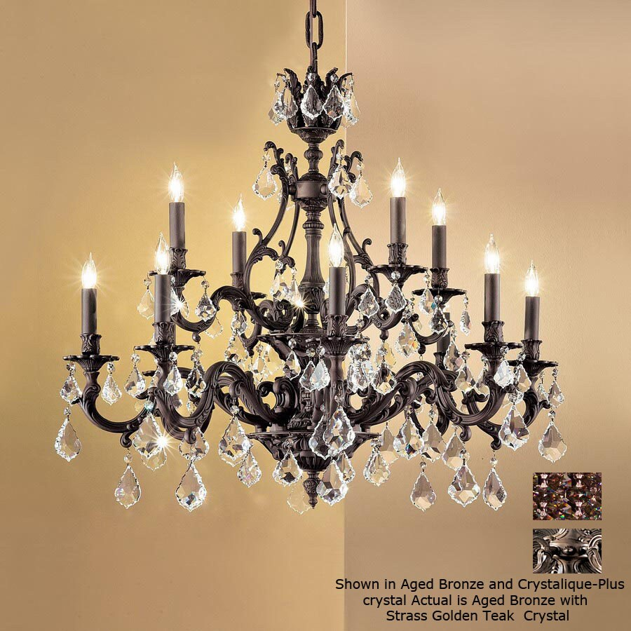 ordinary Lowes Accent Lighting Part - 13: Classic Lighting 12-Light Majestic Aged Bronze Crystal Accent Chandelier