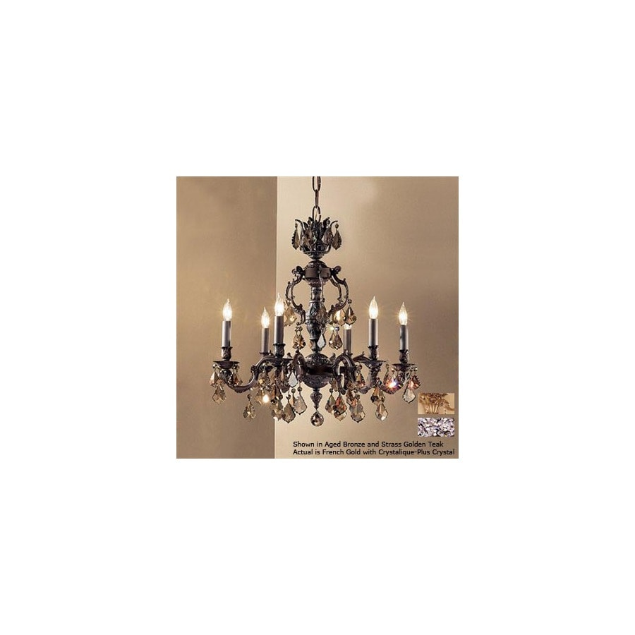 Shop classic lighting 6 light chateau french gold chandelier at classic lighting 6 light chateau french gold chandelier arubaitofo Gallery