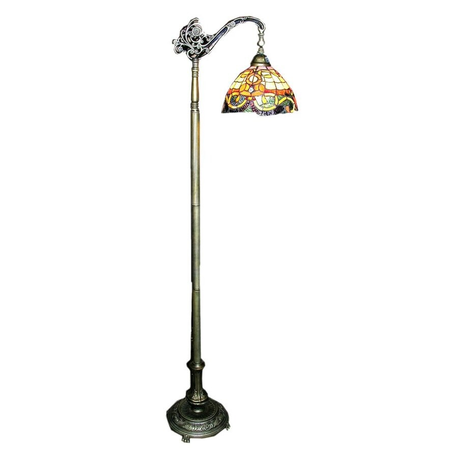 Warehouse of Tiffany Rome 62-in Downbridge Floor Lamp with Glass Shade