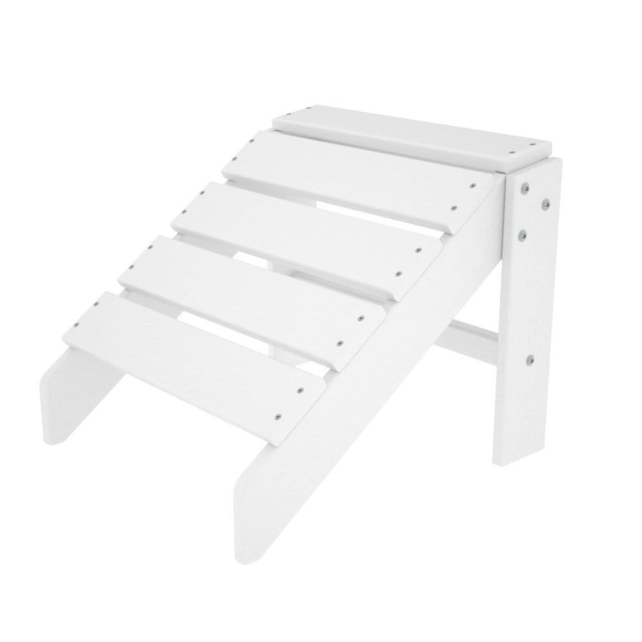 POLYWOOD South Beach White Plastic Ottoman