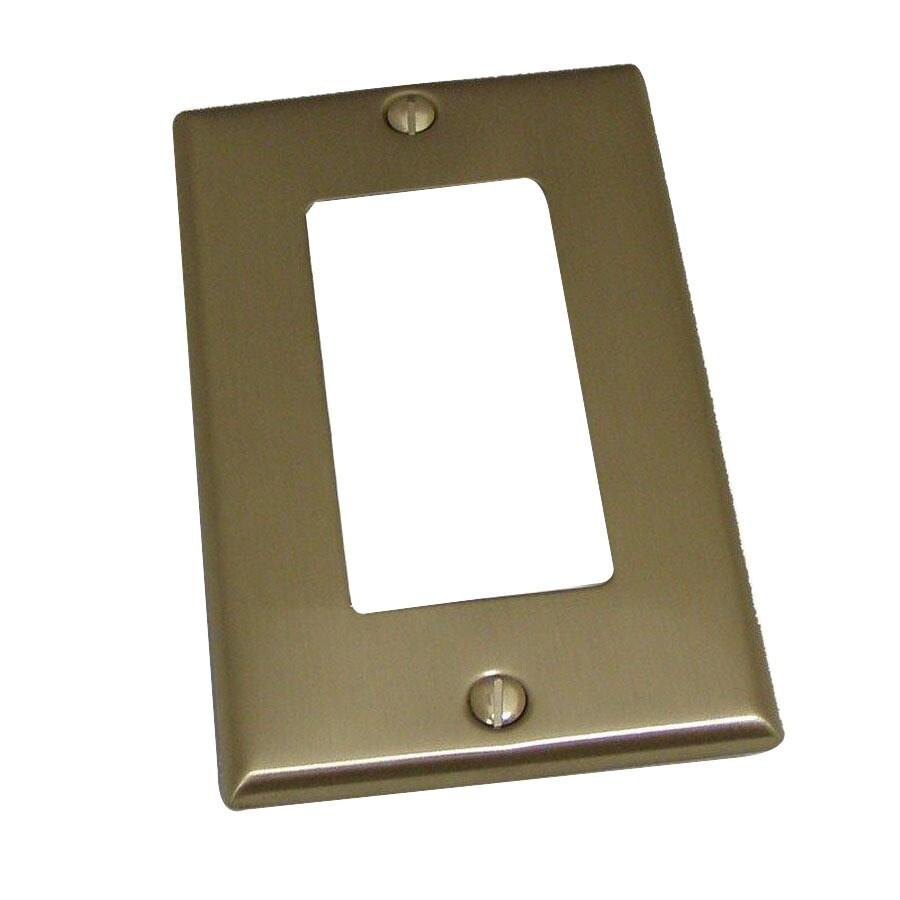 Residential Essentials 1-Gang Satin Nickel Decorator Rocker Steel Wall Plate