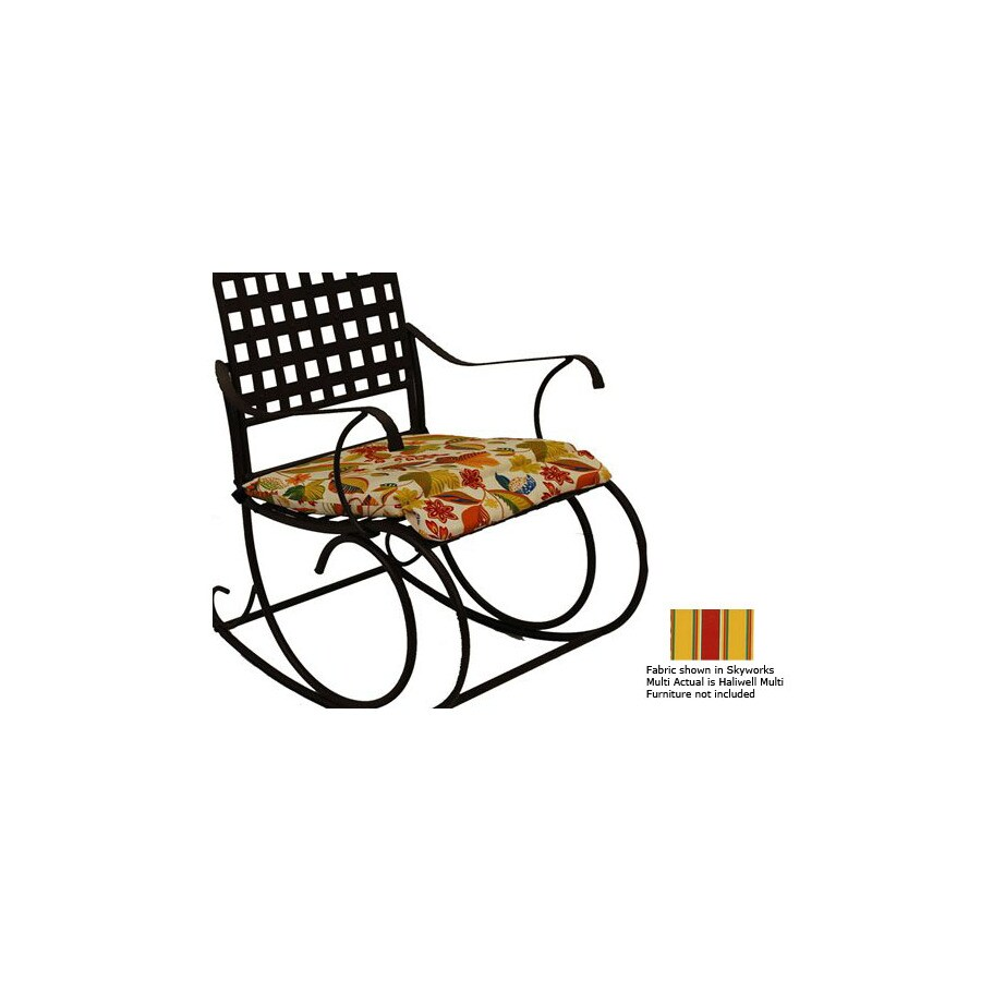Blazing Needles Haliwell Multi Patio Chair Cushion