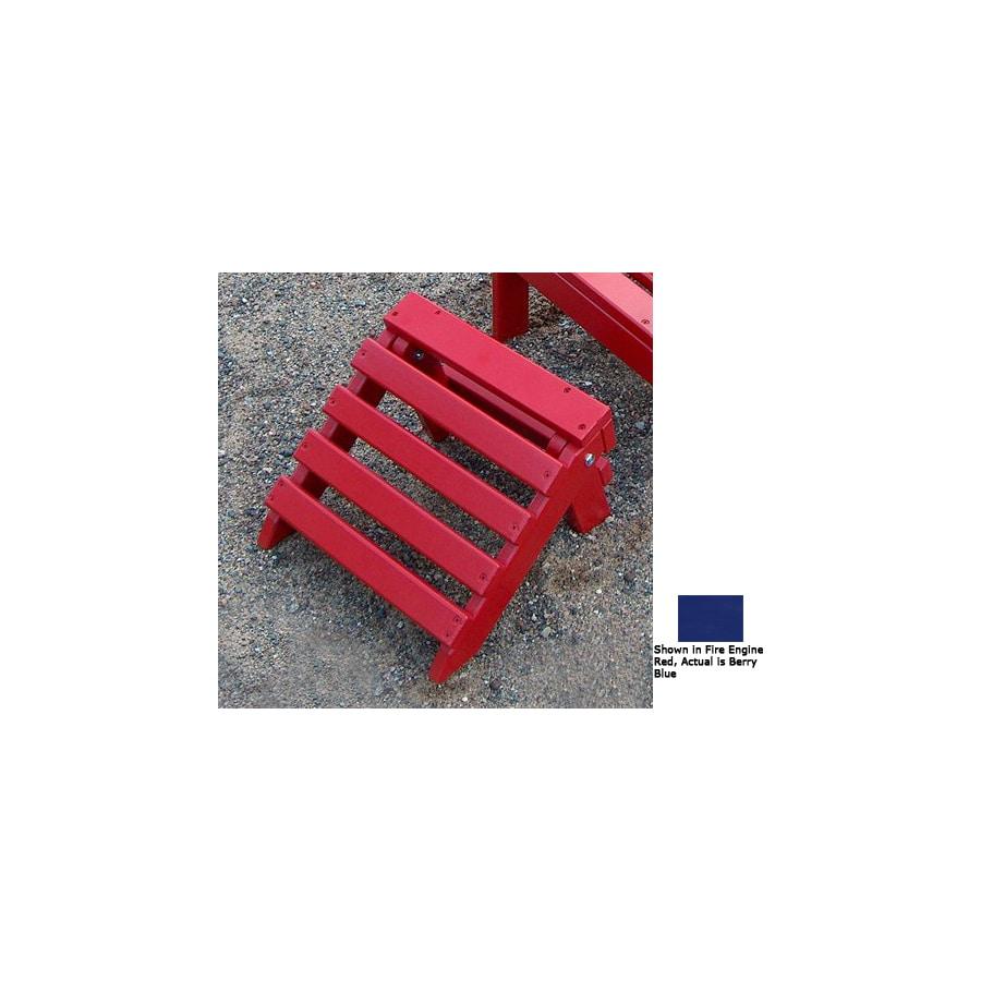 Prairie Leisure Design 12-in L x 12-in W x 9-in H Berry Blue Wood Ottoman
