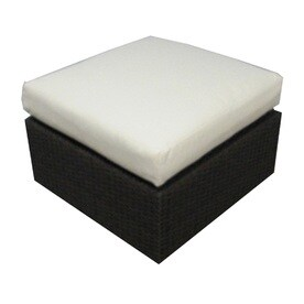 source outdoor manhattan espresso wicker ottoman