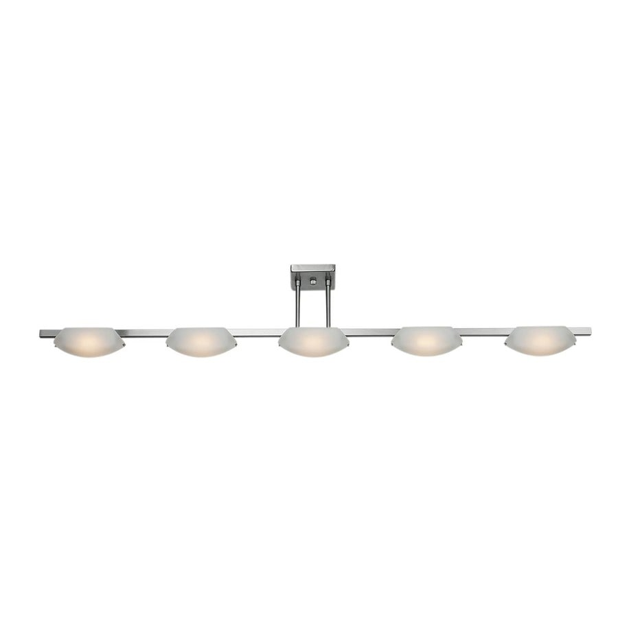 Access Lighting Nido 5-in W 5-Light Matte Chrome Standard Kitchen Island Light with Frosted Shade