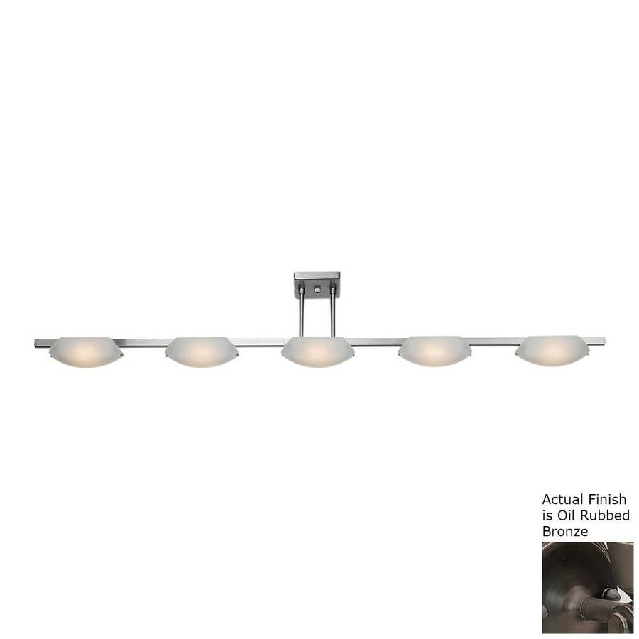 Access Lighting Nido 5-in W 5-Light Oil-Rubbed Bronze Standard Kitchen Island Light with Frosted Shade