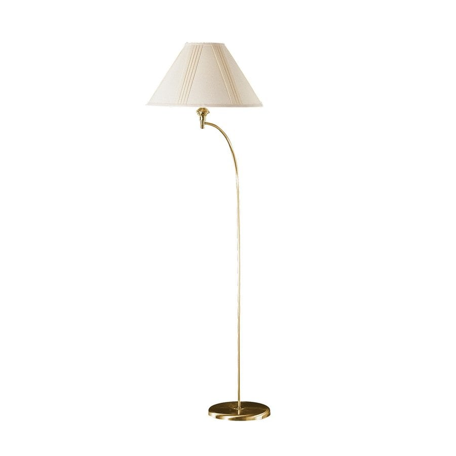 Cal Lighting Mini Arc 64-in 3-Way Antique Brass Indoor Floor Lamp with Shade