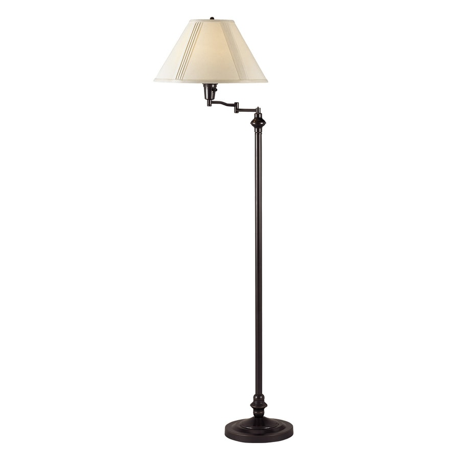 Cal Lighting 59-in 3-Way Dark Bronze Indoor Floor Lamp with Fabric Shade
