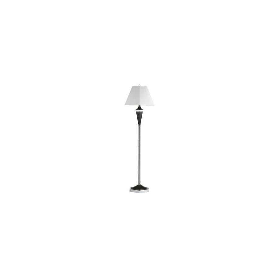 Shop Cal Lighting 60 25 In Brushed Steel Dark Wood Indoor