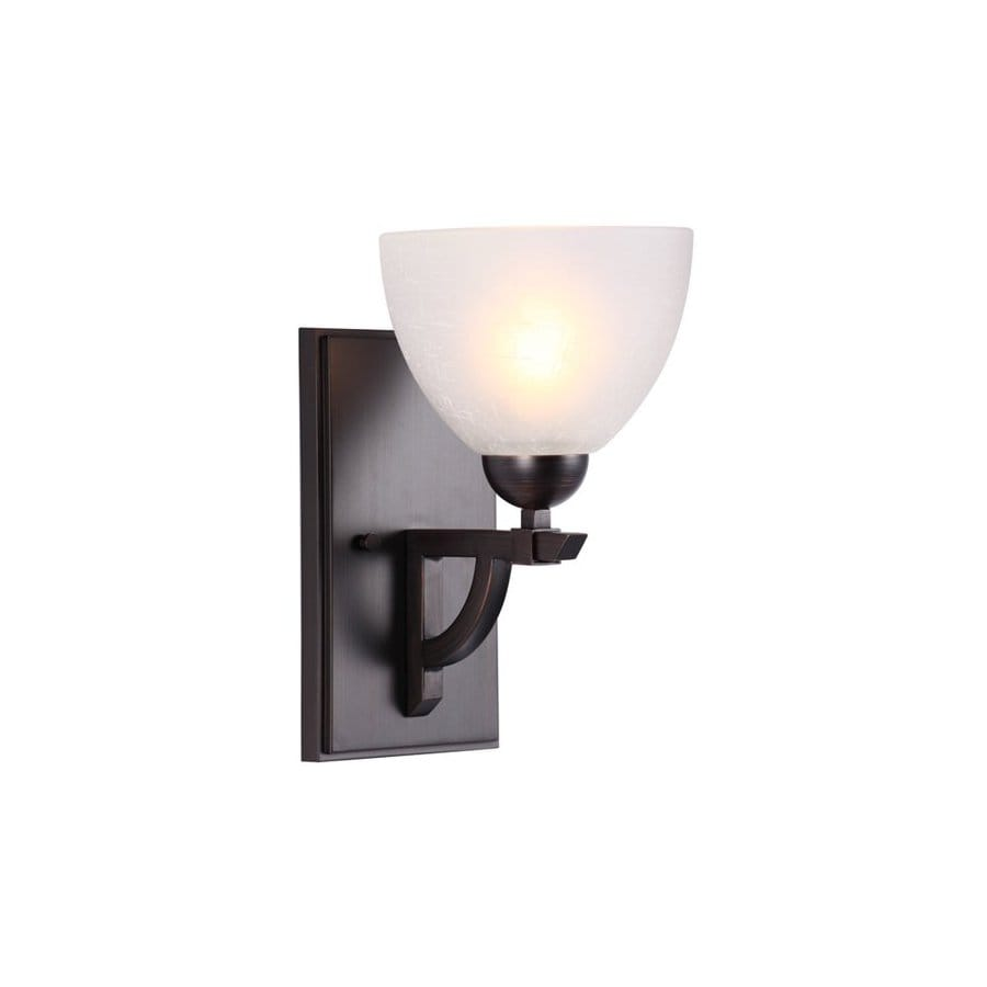 DVI Key West 8-in W 1-Light Oil-Rubbed Bronze Arm Hardwired Wall Sconce
