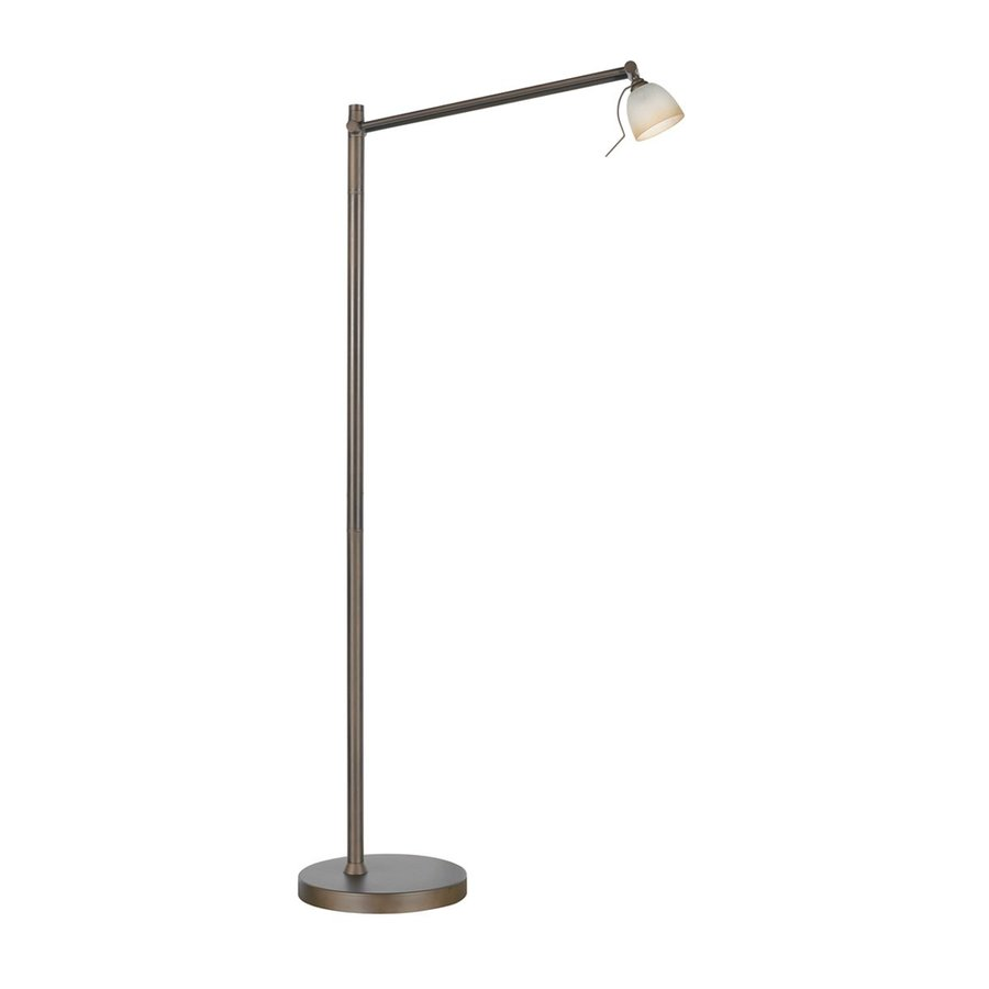 Kendal Lighting Ibis 47-in Oil-Rubbed Bronze Touch Indoor Floor Lamp with Glass Shade