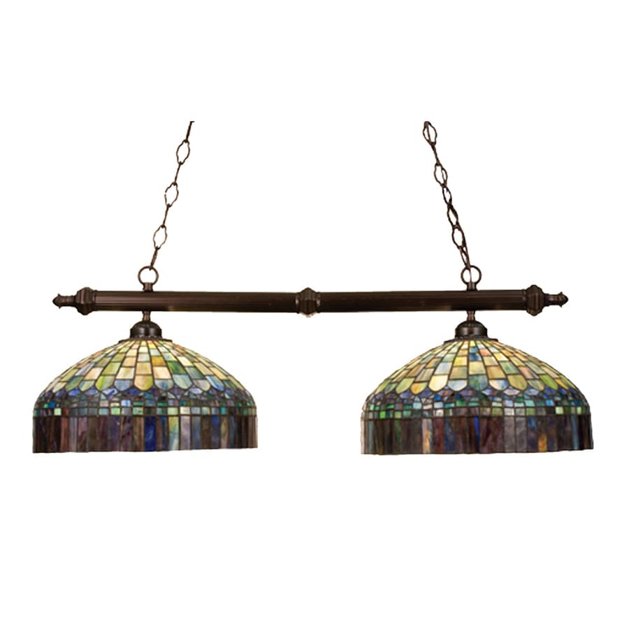 Tiffany Kitchen Lighting Shop Meyda Tiffany Candice 16 In W 2 Light Mahogany Bronze Kitchen