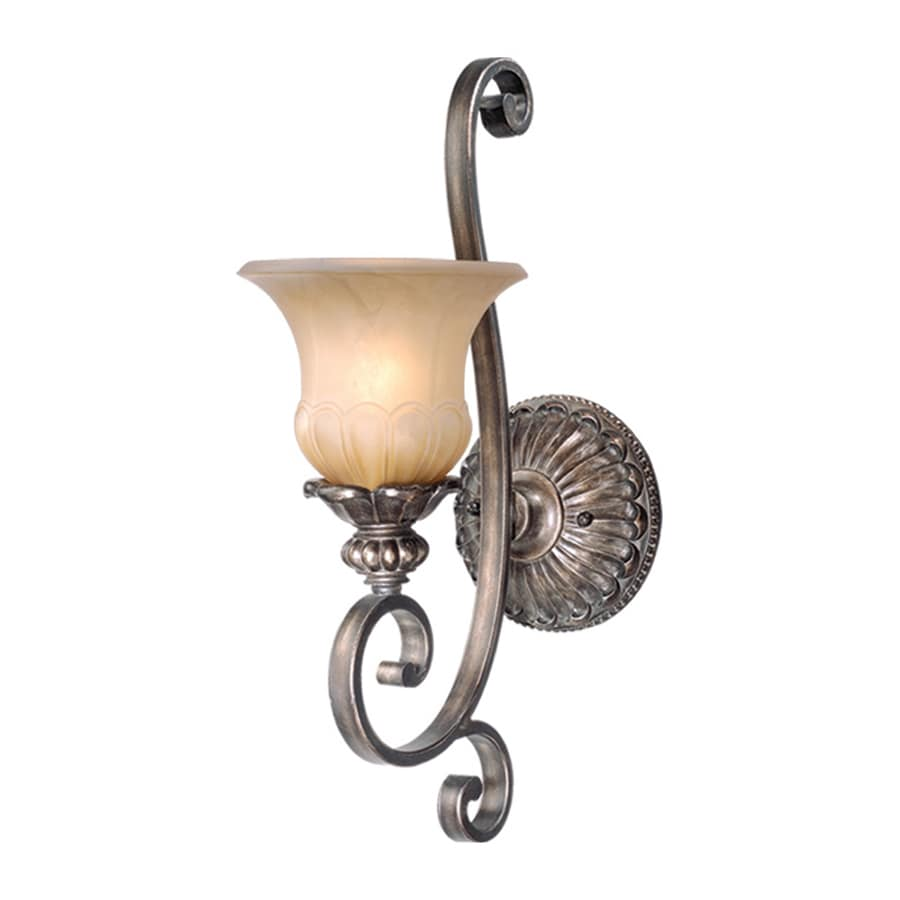 Cascadia Lighting Bellagio 6.75-in W 1-Light Parisian Bronze Arm Hardwired Wall Sconce