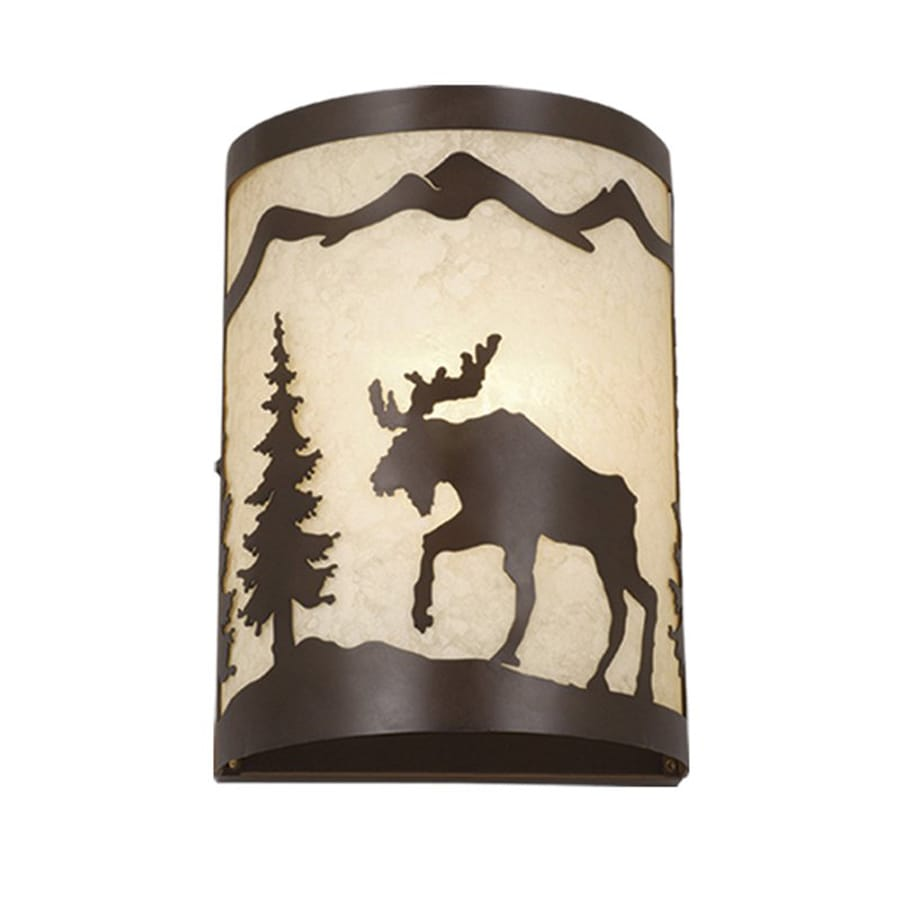 Cascadia Lighting Yellowstone 8-in W 1-Light Burnished Bronze Pocket Wall Sconce