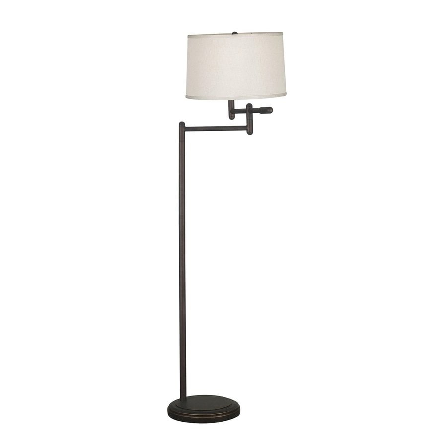 Kenroy Home Theta 60-in Three-Way Copper Bronze Shaded Floor Lamp with Fabric Shade