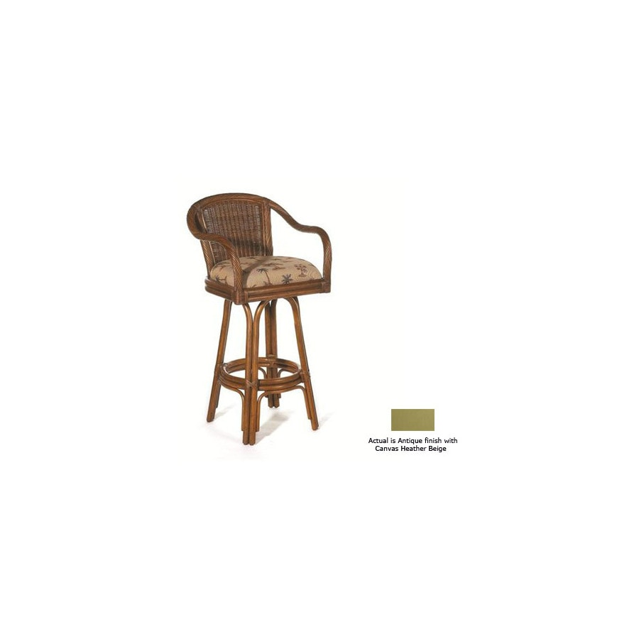 Hospitality Rattan Key West Antique 24-in Counter Stool