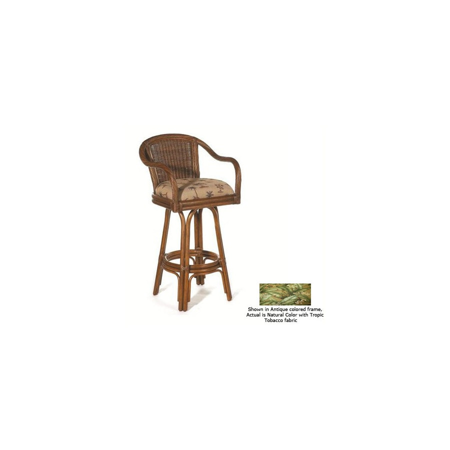Hospitality Rattan Key West Natural 30-in Bar Stool