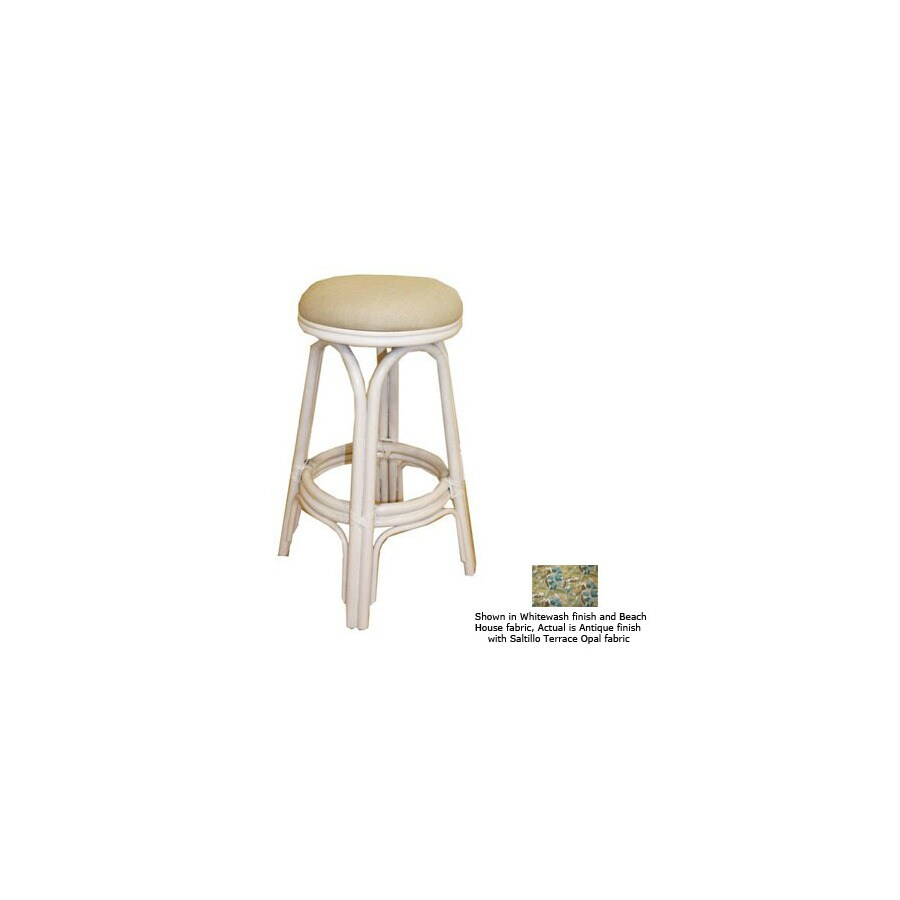 Hospitality Rattan Carmen Antique 24-in Counter Stool