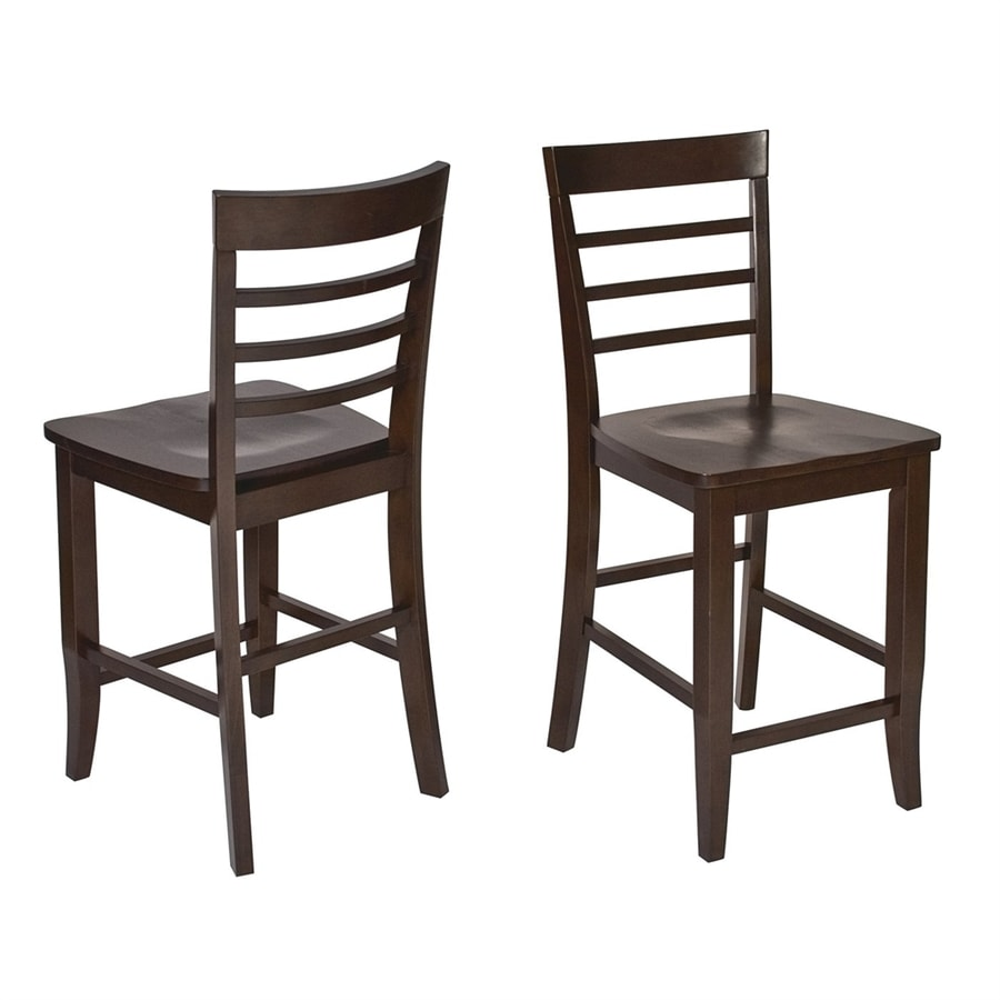 Office Star Jamestown Set of 2 Casual Espresso Counter Stools