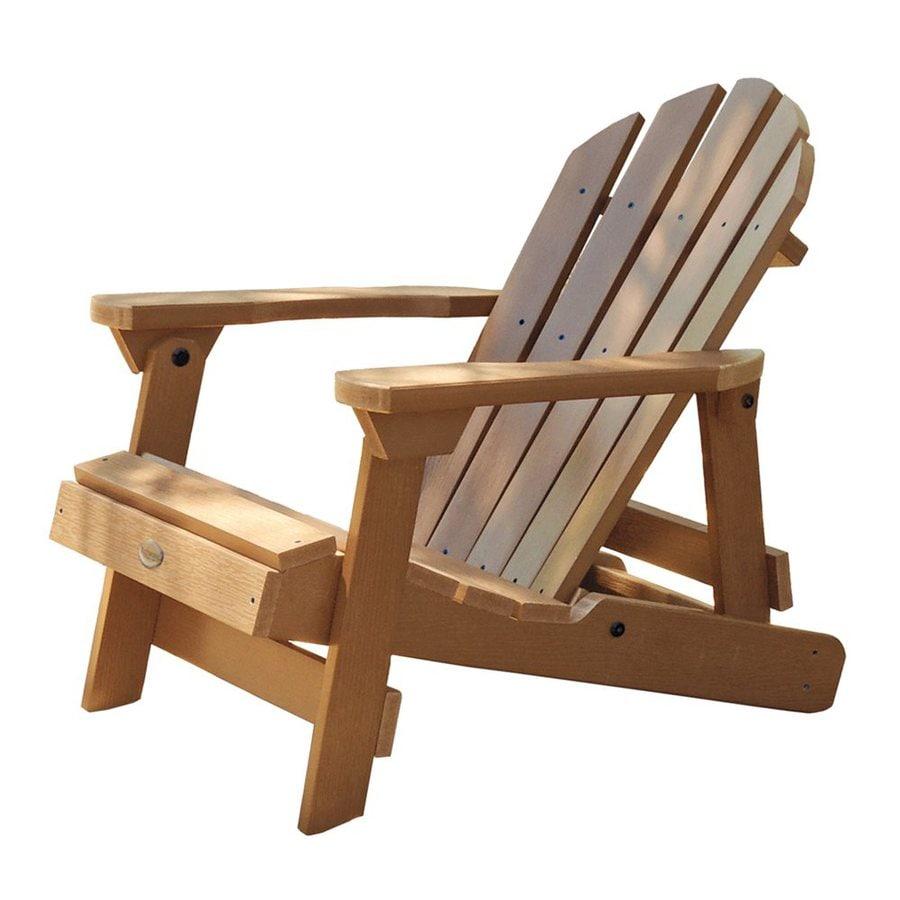 Highwood USA Hamilton Toffee Plastic Folding Adirondack Chair  sc 1 st  Loweu0027s & Shop Highwood USA Hamilton Toffee Plastic Folding Adirondack Chair ...