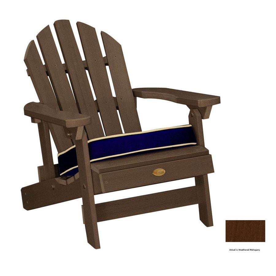 Shop Highwood USA Weathered Mahogany Kids Adirondack Chair at Lowes.com