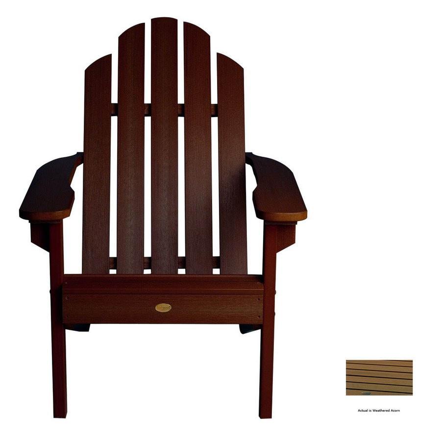 Highwood USA Weathered Acorn Wood Adirondack Chair