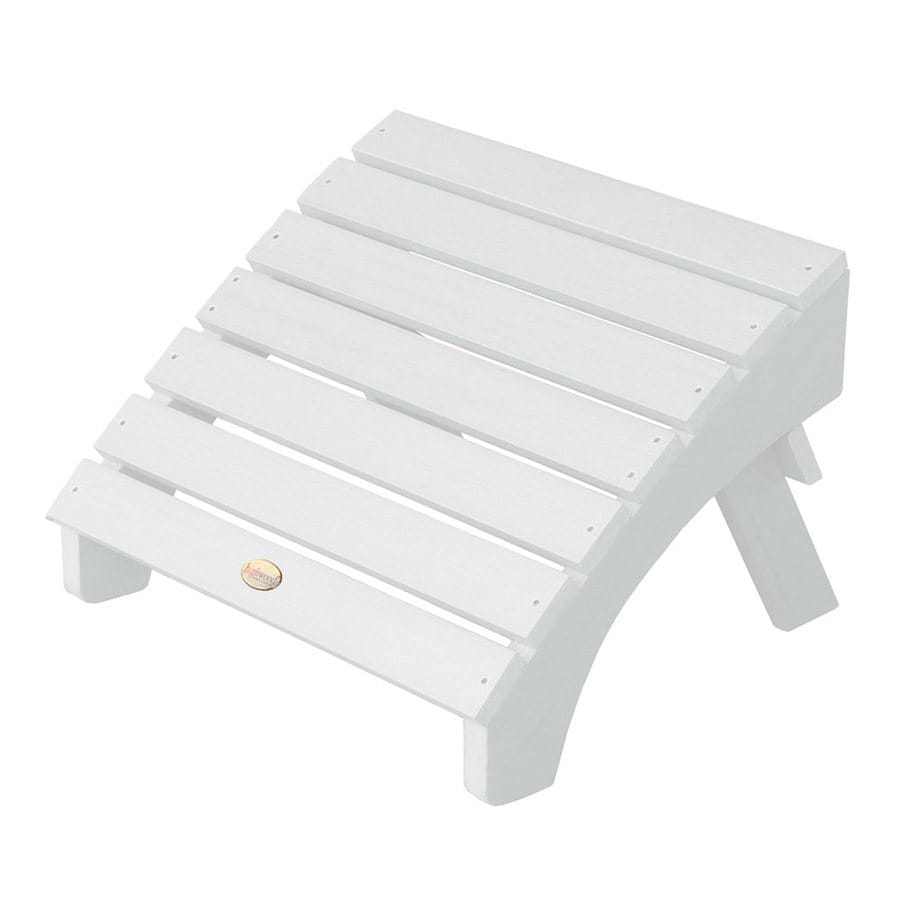 Shop highwood usa adirondack white plastic ottoman at - Plastic adirondack footrest ...