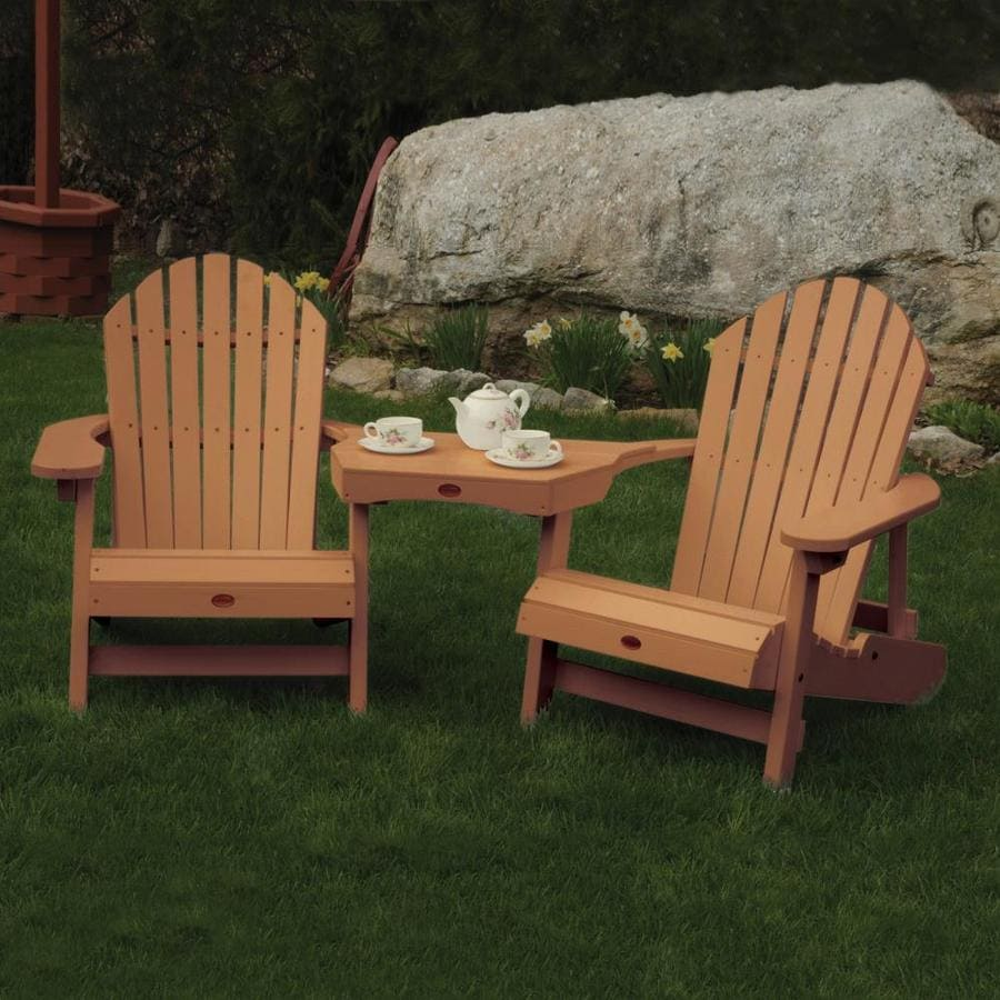 Highwood USA Adirondack 2-Count Toffee Plastic Patio Adirondack Chairs