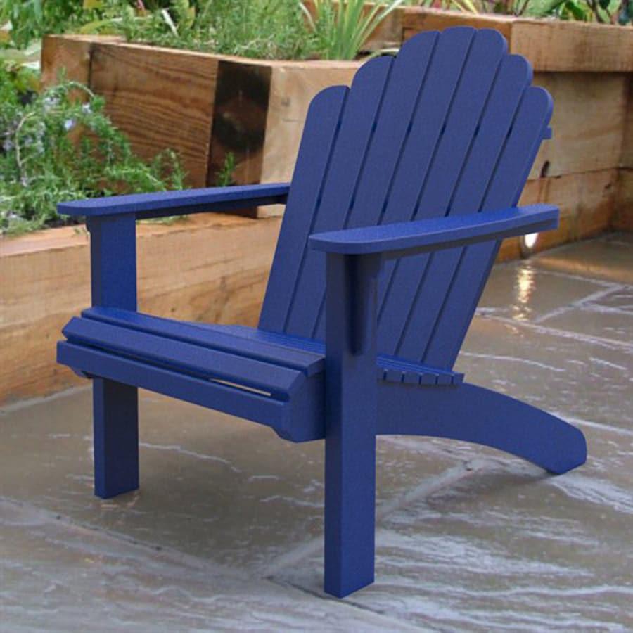 Malibu Outdoor Living Hampton Blue Recycled Plastic Adirondack Chair