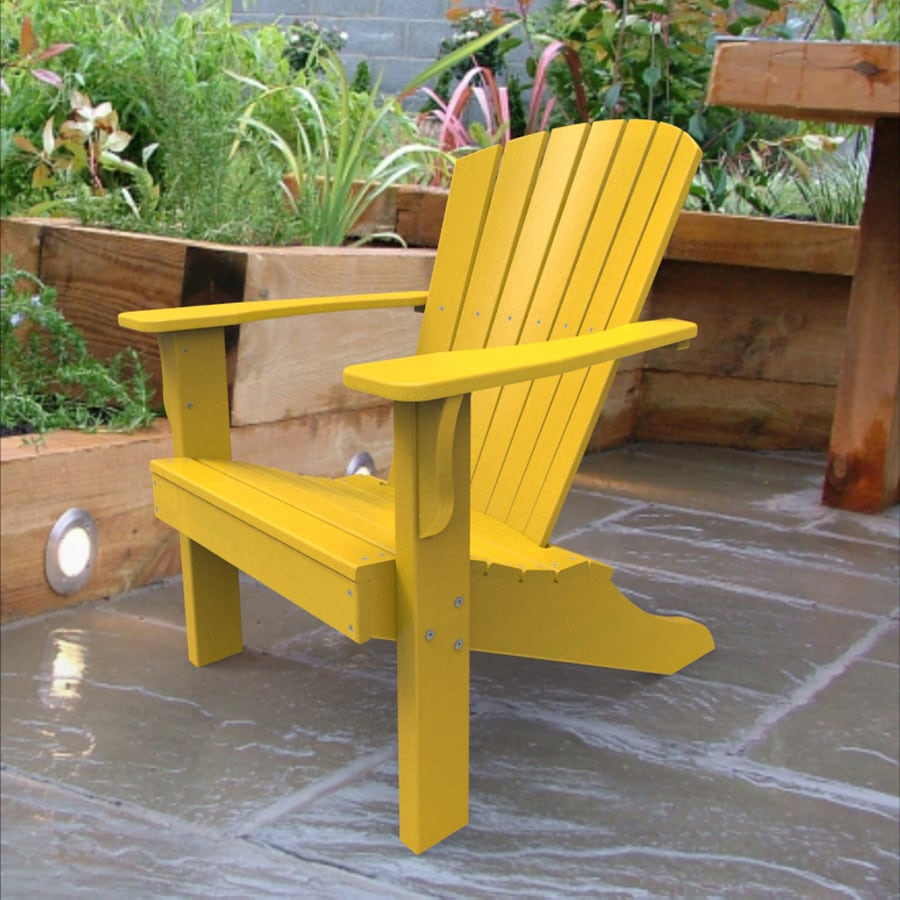 Malibu Outdoor Living Yellow Recycled Plastic Adirondack Chair