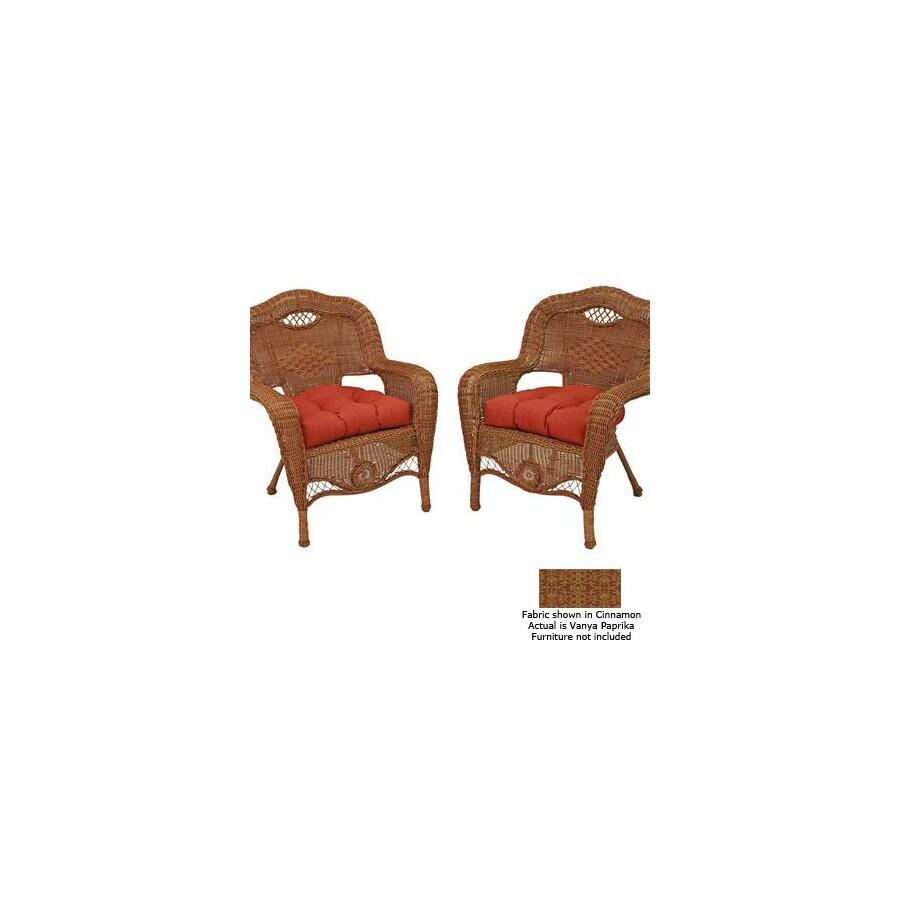 Blazing Needles 19-in L x 19-in W Vanya Paprika Patio Chair Cushion