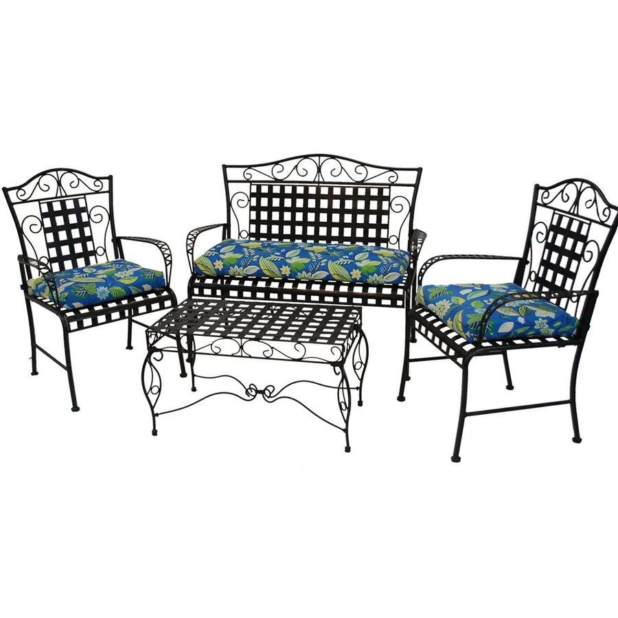 Blazing Needles Dacron 3-Piece Skyworks Caribbean Standard Patio Chair Cushion