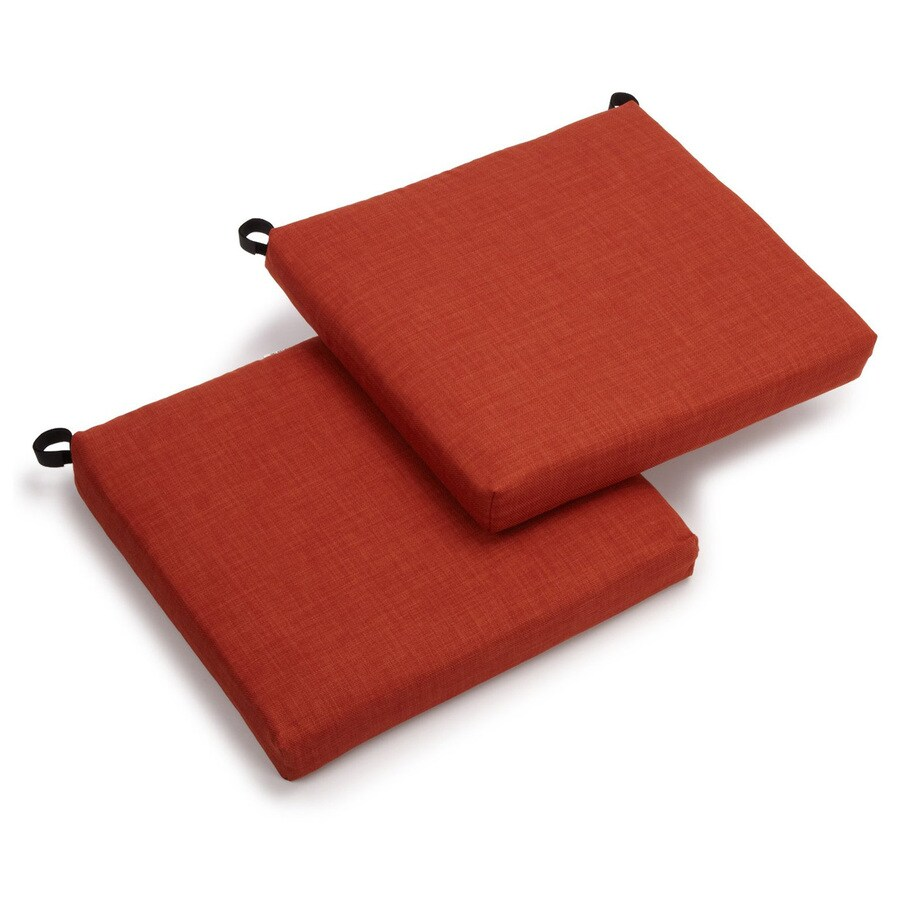 Blazing Needles Cinnamon Solid Cushion for Bistro Chairs