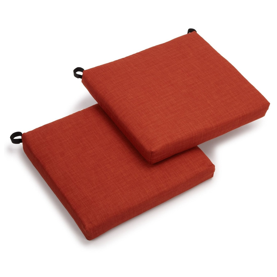 Blazing Needles Cinnamon Solid Standard Patio Chair Cushion for Bistro Chair