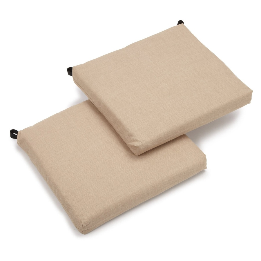 Blazing Needles Sandstone Solid Standard Patio Chair Cushion for Bistro Chair