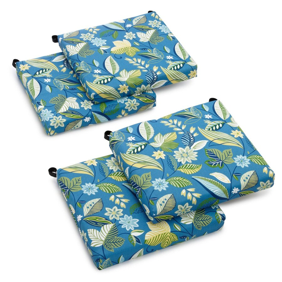 Blazing Needles Skyworks Caribbean Floral Standard Patio Chair Cushion for Bistro Chair
