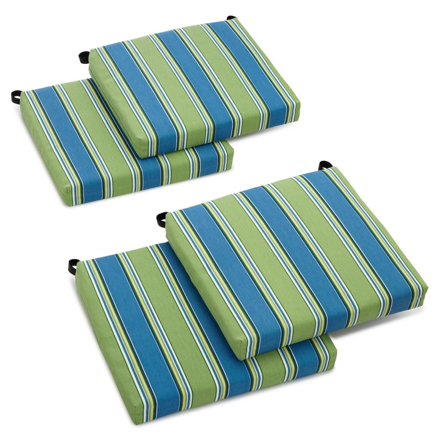 Blazing Needles Haliwell Caribbean Stripe Cushion for Bistro Chairs