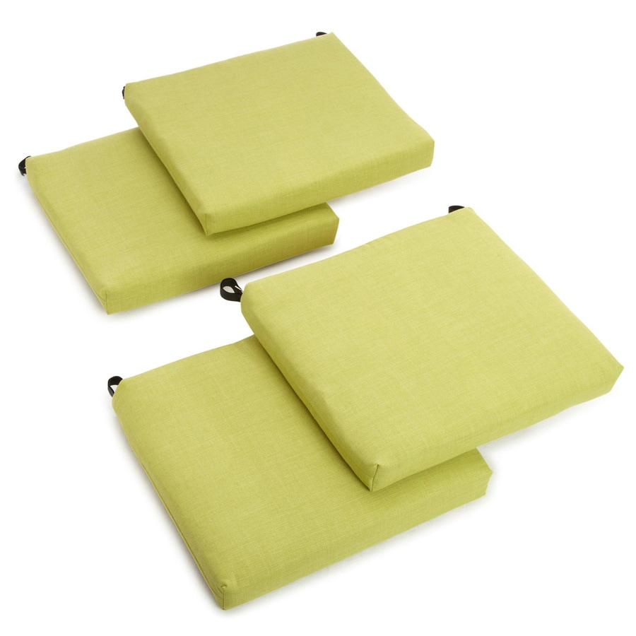 Blazing Needles Dacron 4-Piece Lime Standard Patio Chair Cushion