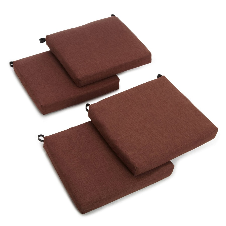 Blazing Needles Cocoa Solid Standard Patio Chair Cushion for Bistro Chair