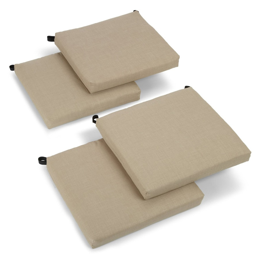 Blazing Needles Sandstone Solid Cushion for Bistro Chairs