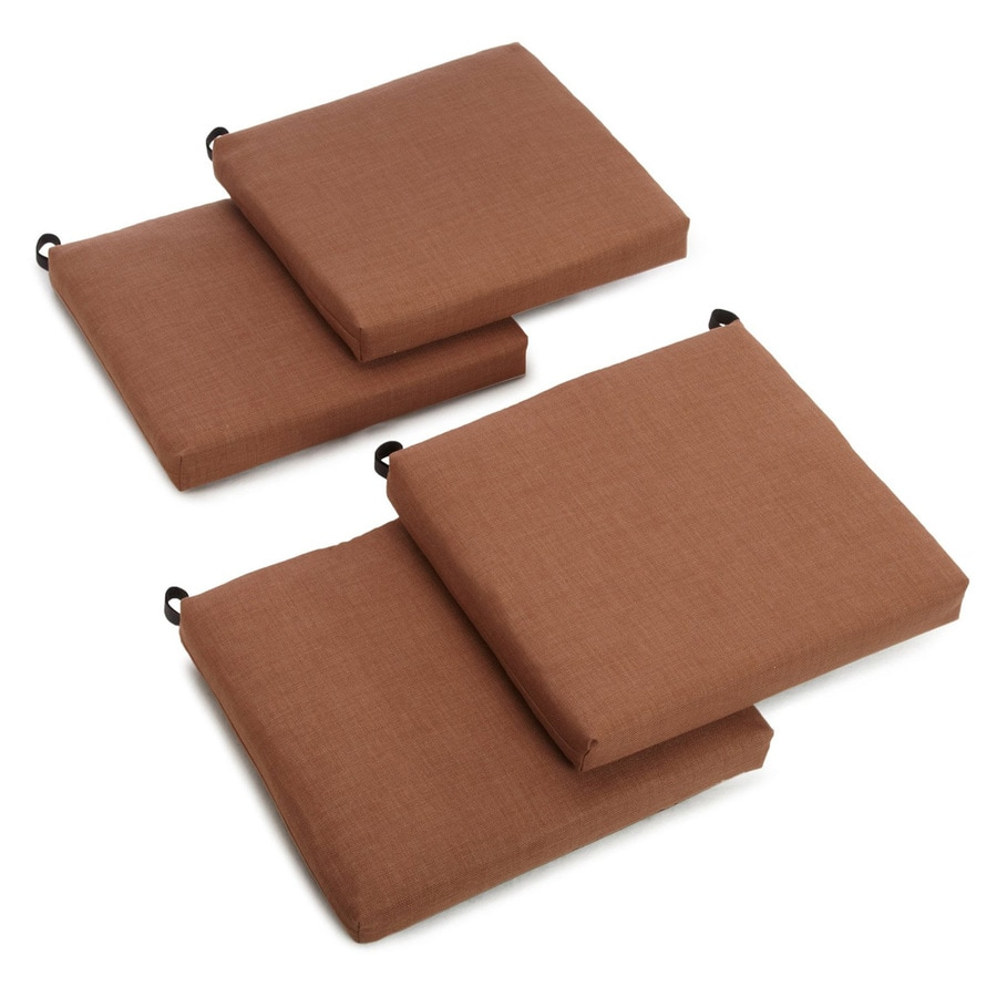 Blazing Needles Mocha Solid Standard Patio Chair Cushion for Bistro Chair