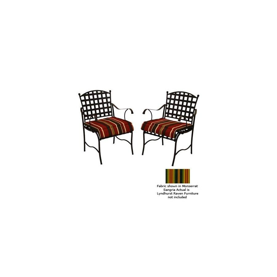 Blazing Needles Lyndhurst Raven Patio Chair Cushion